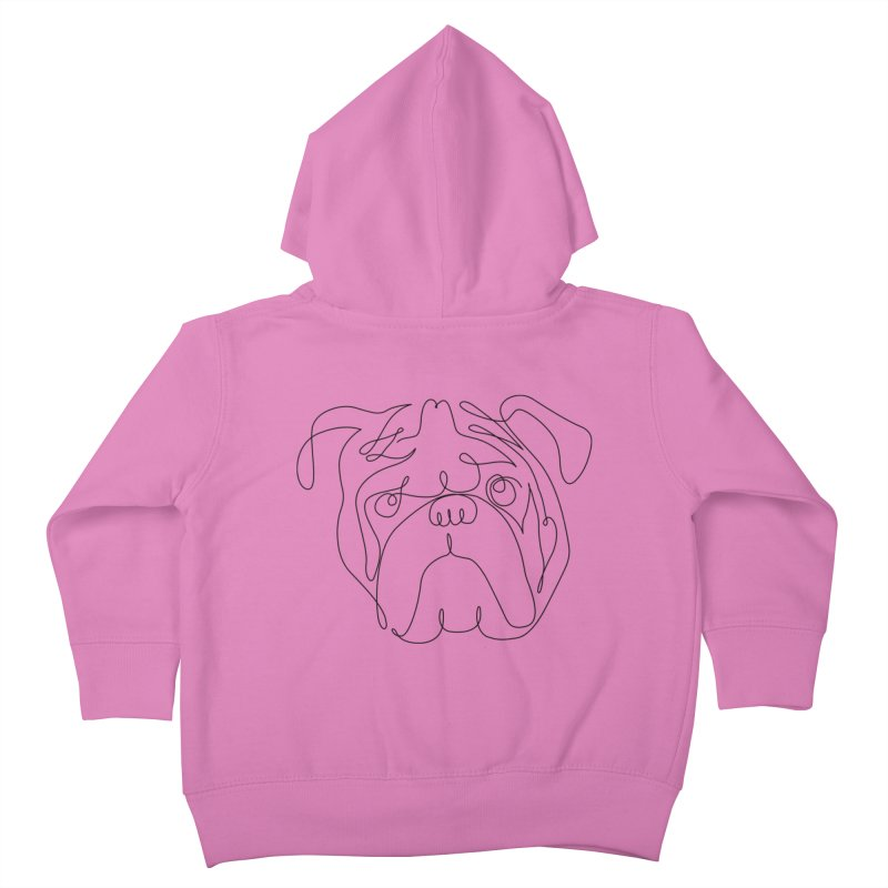 One Line English Bulldog Kids Toddler Zip-Up Hoody by huebucket's Artist Shop