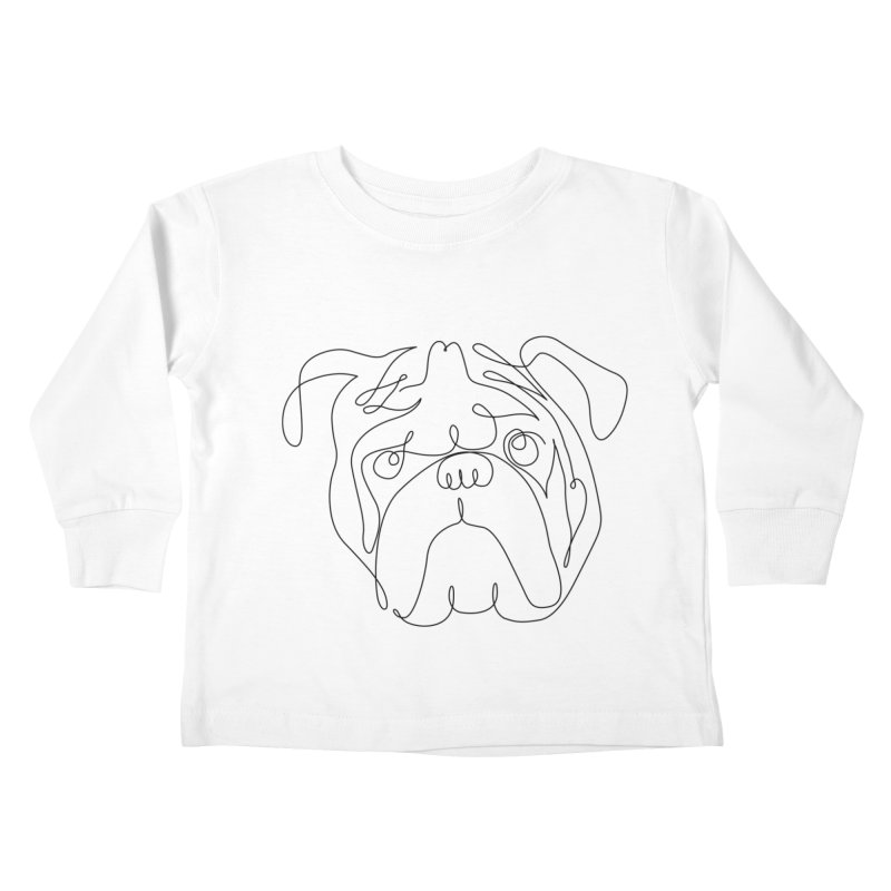 One Line English Bulldog Kids Toddler Longsleeve T-Shirt by huebucket's Artist Shop