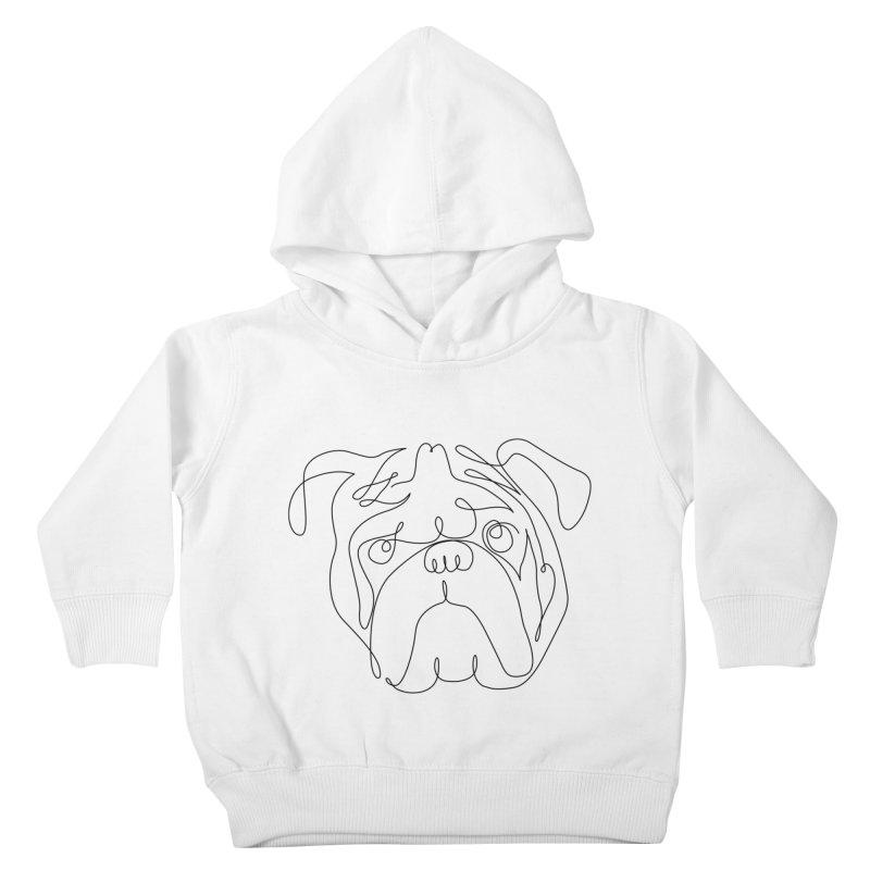 One Line English Bulldog Kids Toddler Pullover Hoody by huebucket's Artist Shop