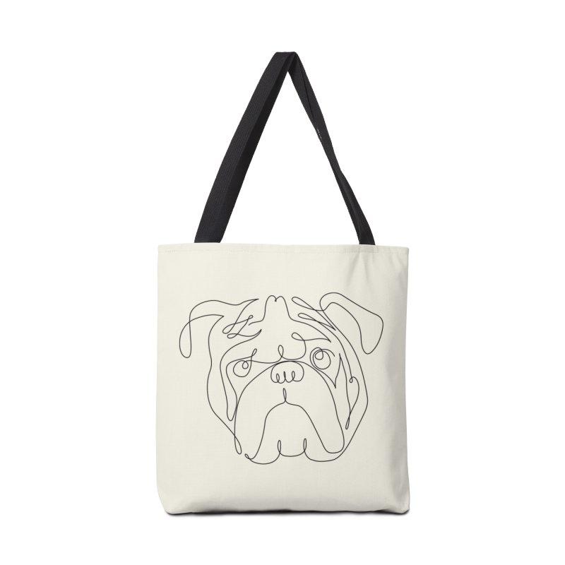 One Line English Bulldog Accessories Bag by huebucket's Artist Shop