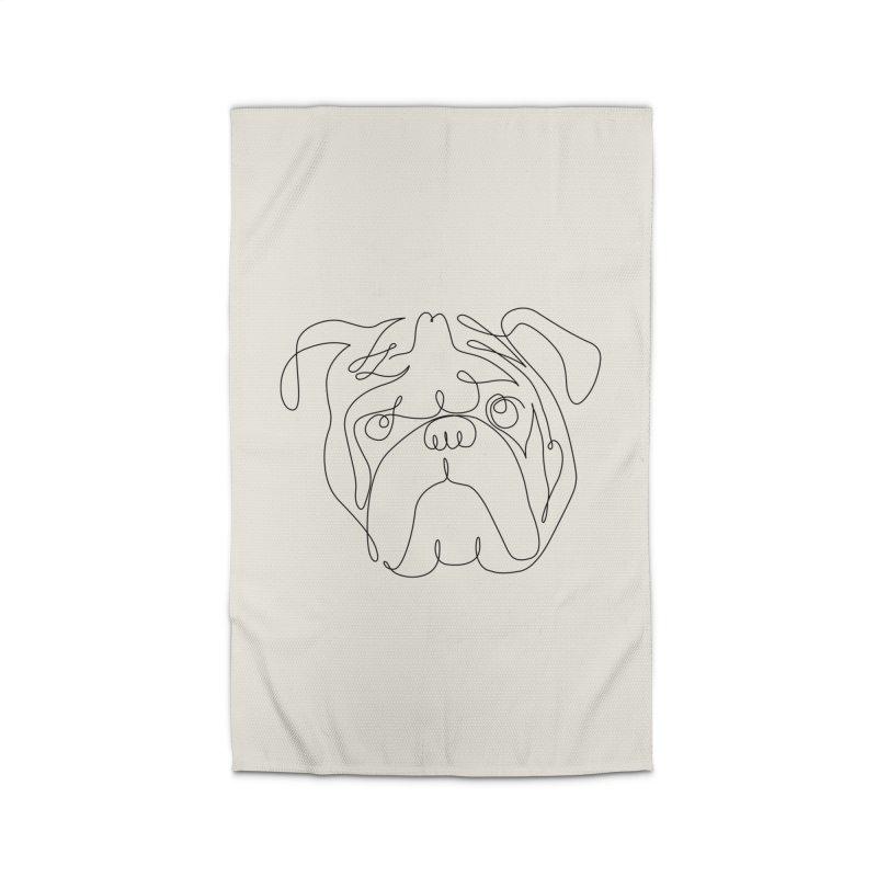 One Line English Bulldog Home Rug by huebucket's Artist Shop