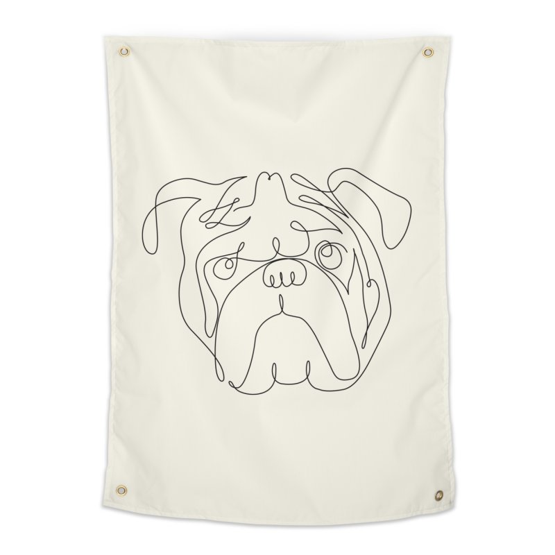 One Line English Bulldog Home Tapestry by huebucket's Artist Shop