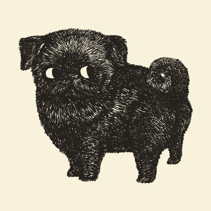 Black Pug   by huebucket's Artist Shop