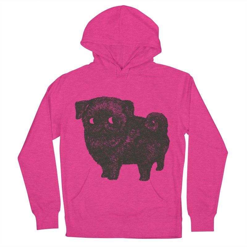 Black Pug  Women's Pullover Hoody by huebucket's Artist Shop
