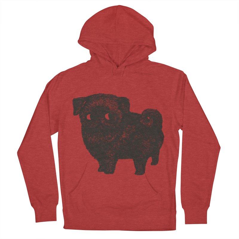 Black Pug  Men's Pullover Hoody by huebucket's Artist Shop