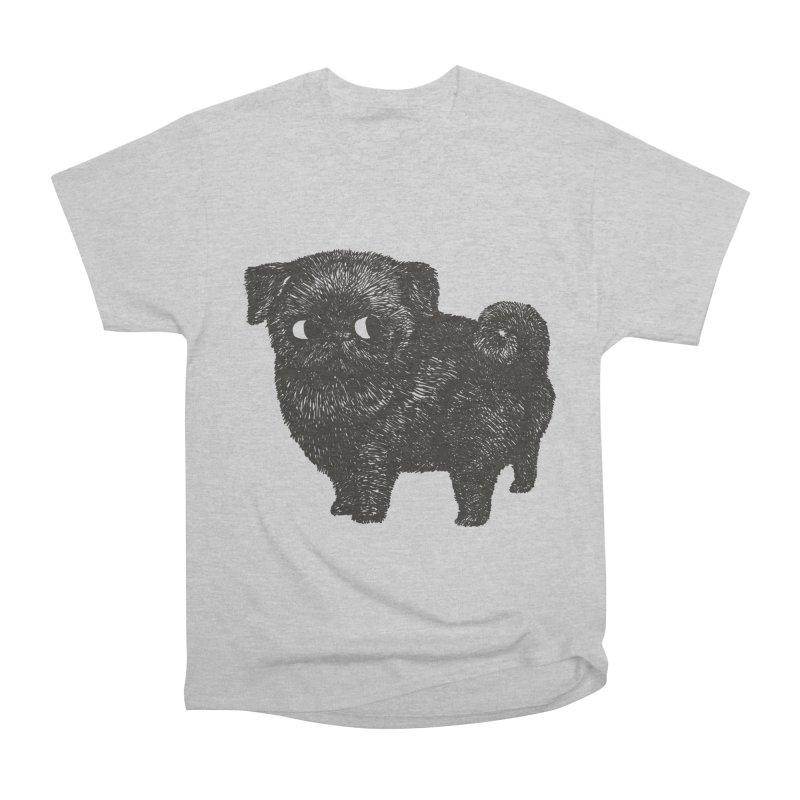 Black Pug  Men's Classic T-Shirt by huebucket's Artist Shop