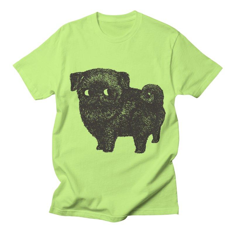 Black Pug  Men's T-Shirt by huebucket's Artist Shop