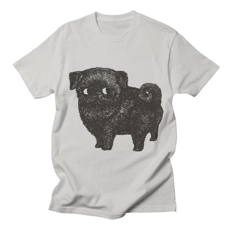 Black Pug  Women's Unisex T-Shirt by huebucket's Artist Shop