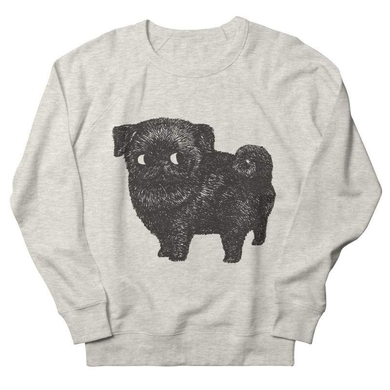 Black Pug  Women's Sweatshirt by huebucket's Artist Shop