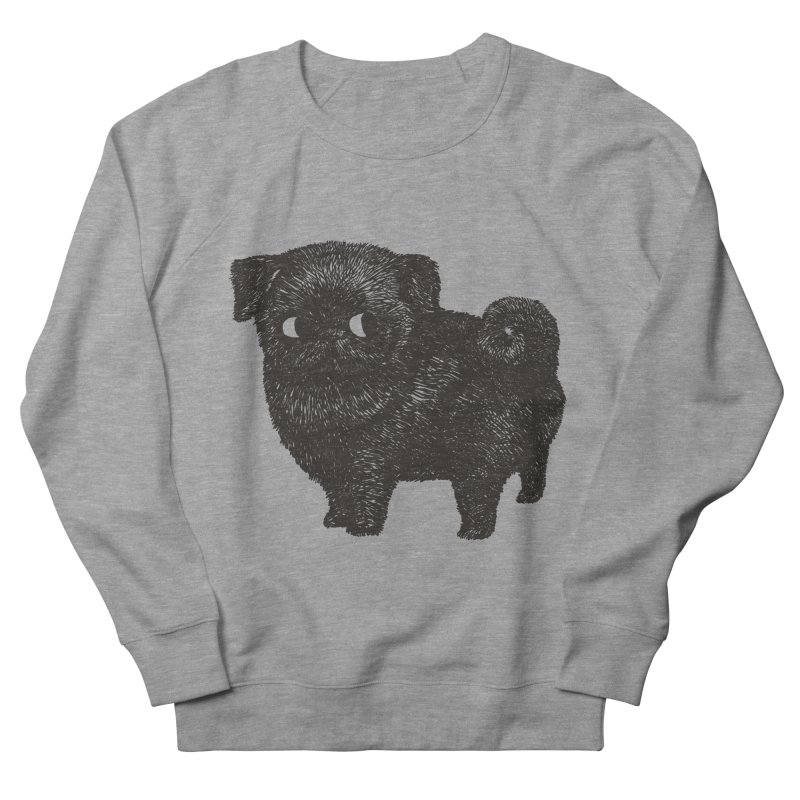 Black Pug  Men's Sweatshirt by huebucket's Artist Shop