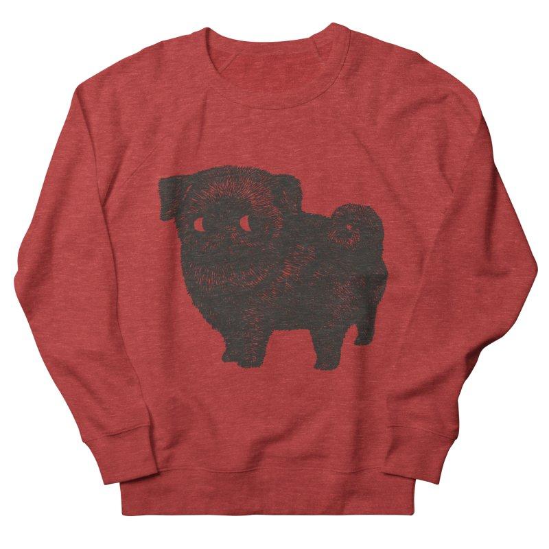 Black Pug  Men's Sweatshirt by huebucket's Artist Shop