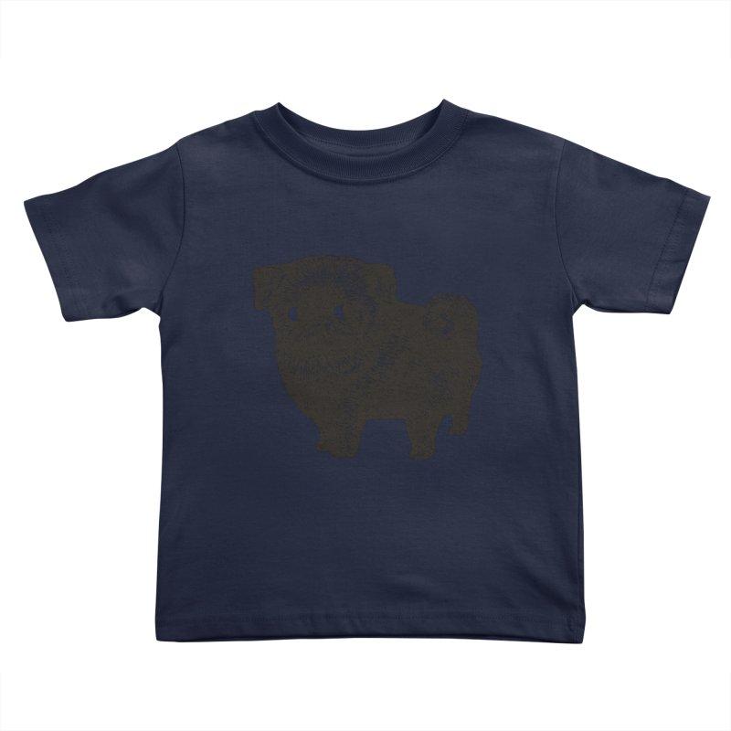 Black Pug  Kids Toddler T-Shirt by huebucket's Artist Shop