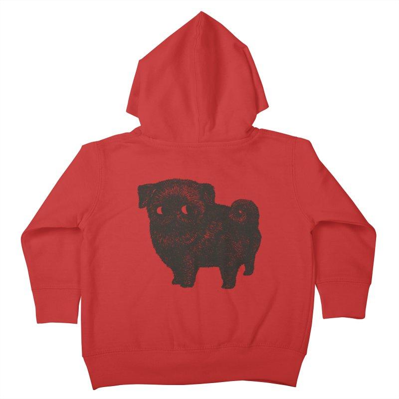 Black Pug  Kids Toddler Zip-Up Hoody by huebucket's Artist Shop