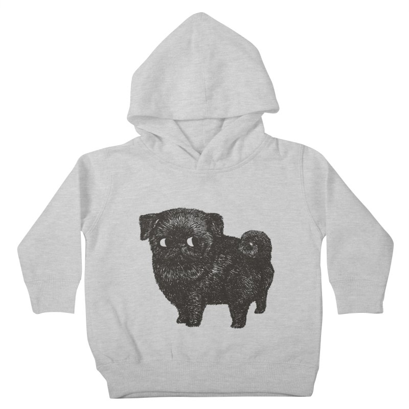 Black Pug  Kids Toddler Pullover Hoody by huebucket's Artist Shop