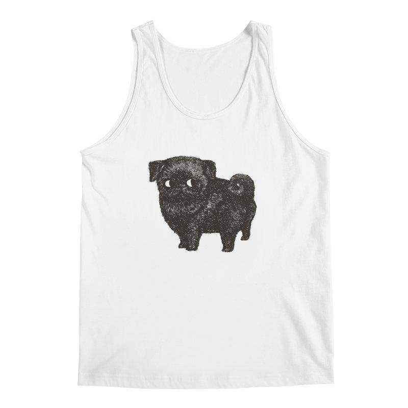 Black Pug  Men's Tank by huebucket's Artist Shop