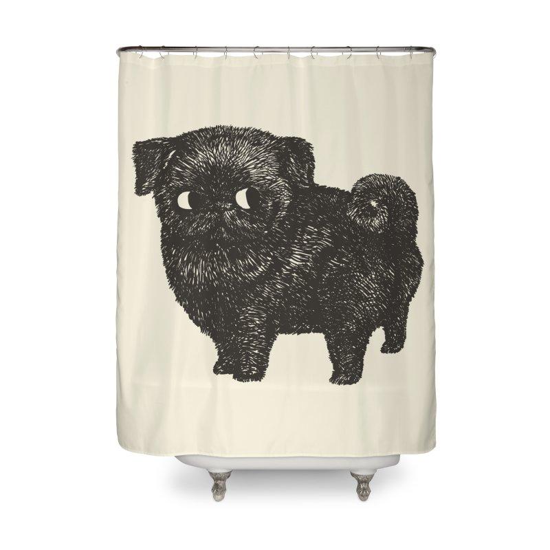 Black Pug  Home Shower Curtain by huebucket's Artist Shop