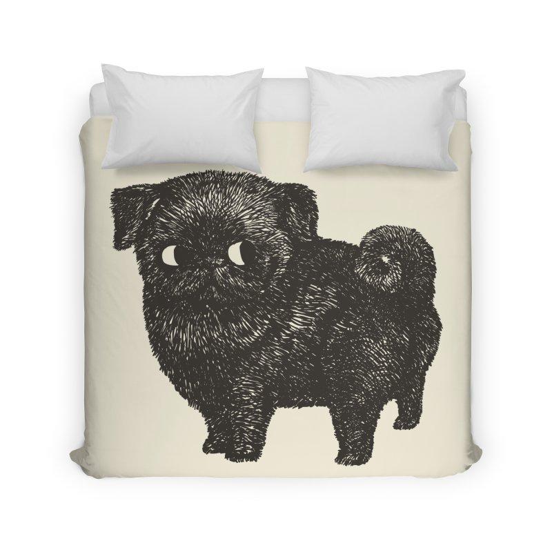 Black Pug  Home Duvet by huebucket's Artist Shop