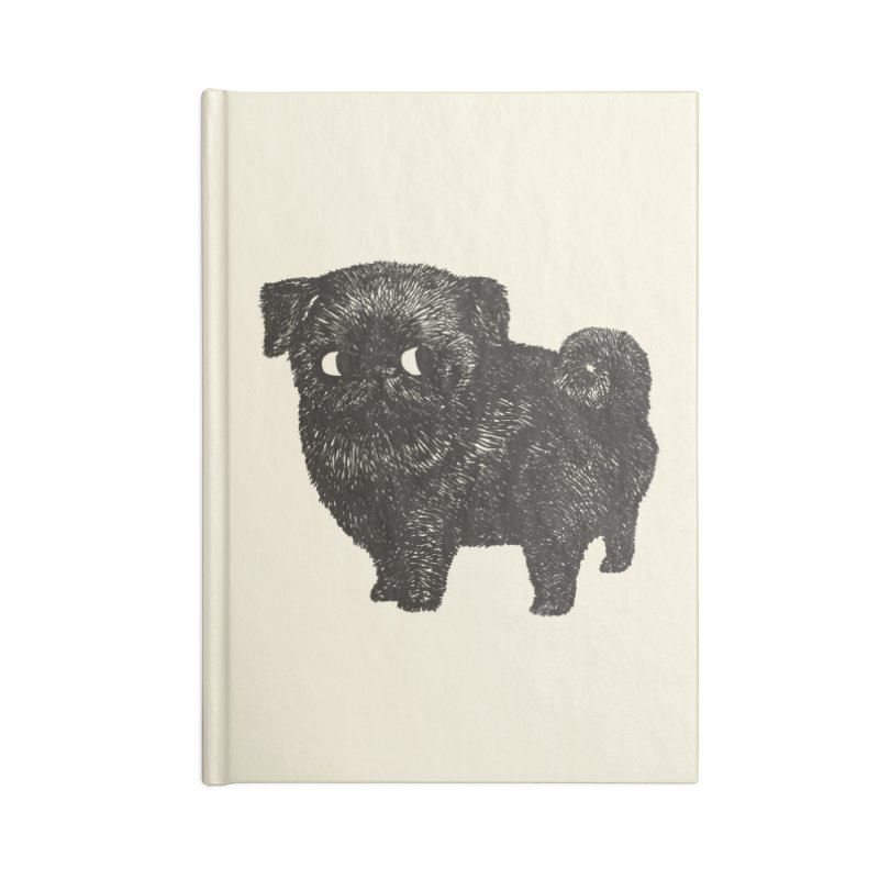 Black Pug  Accessories Notebook by huebucket's Artist Shop