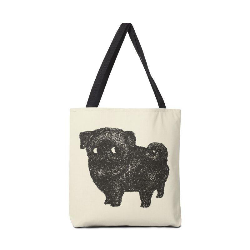 Black Pug  Accessories Bag by huebucket's Artist Shop