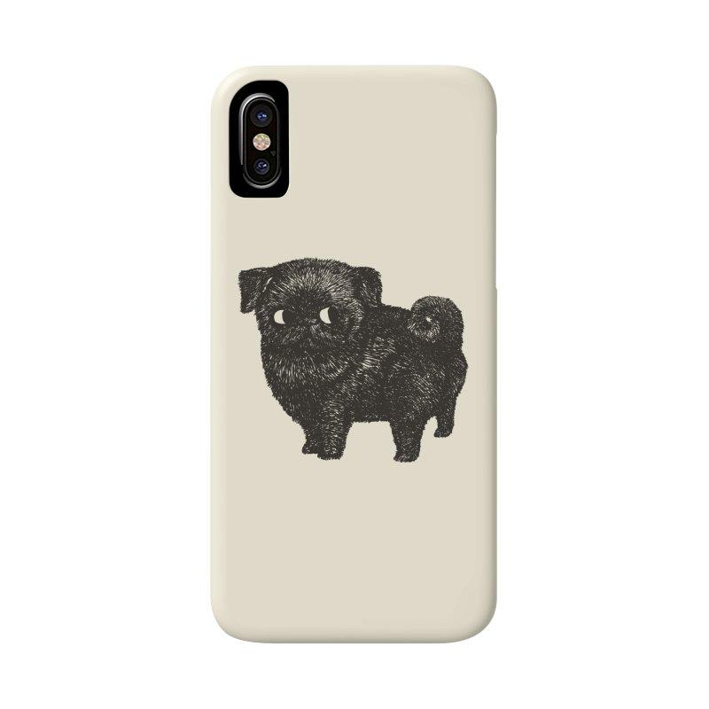 Black Pug  Accessories Phone Case by huebucket's Artist Shop