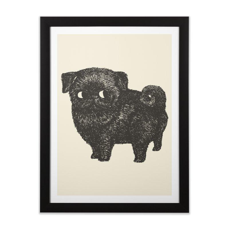 Black Pug  Home Framed Fine Art Print by huebucket's Artist Shop
