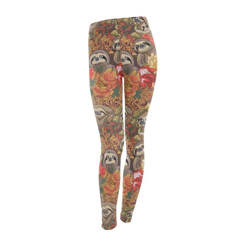 Because Sloths Autumn Women's Leggings Bottoms by huebucket's Artist Shop