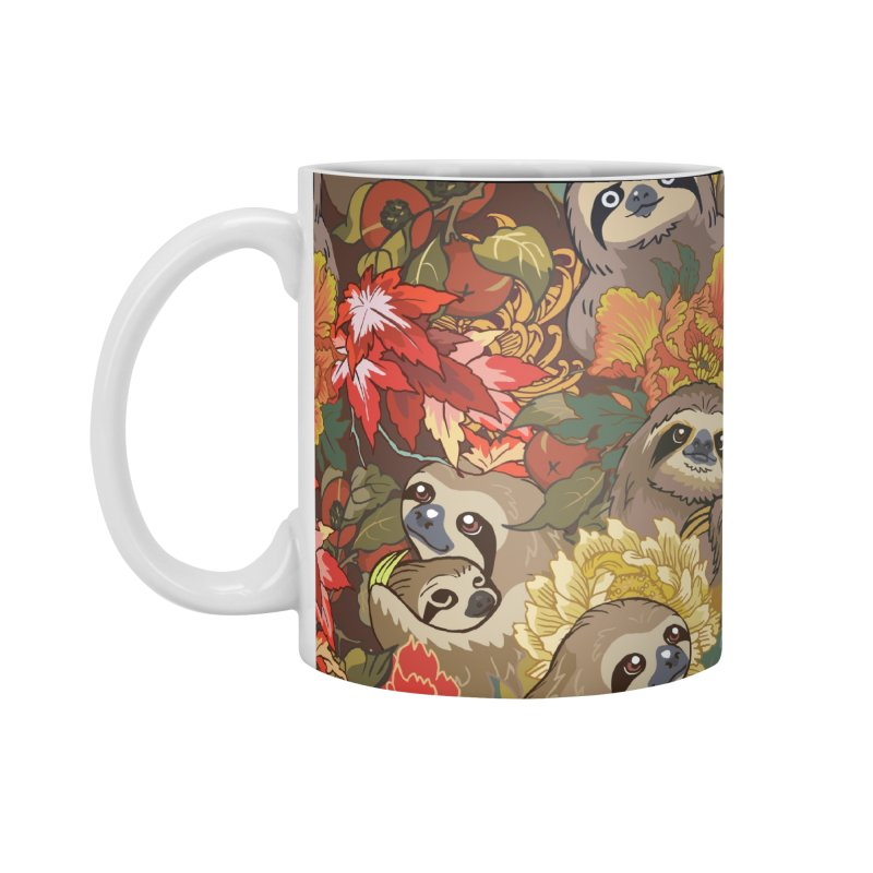 Because Sloths Autumn Accessories Mug by huebucket's Artist Shop