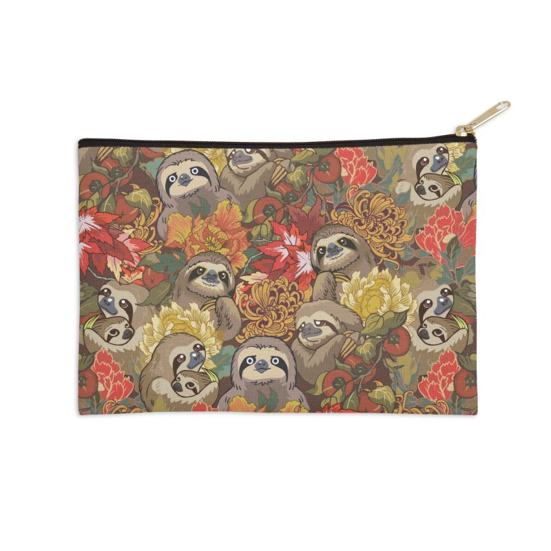 Because Sloths Autumn Accessories Zip Pouch by huebucket's Artist Shop