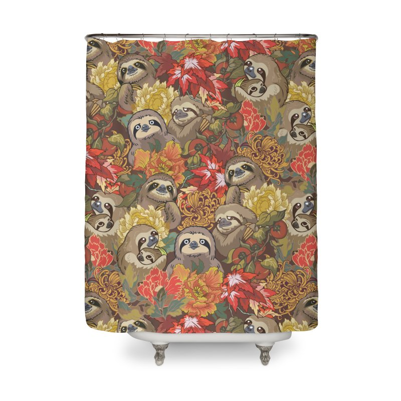Because Sloths Autumn Home Shower Curtain by huebucket's Artist Shop