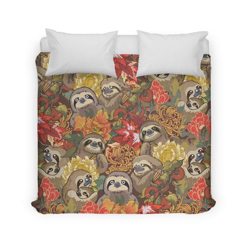 Because Sloths Autumn Home Duvet by huebucket's Artist Shop
