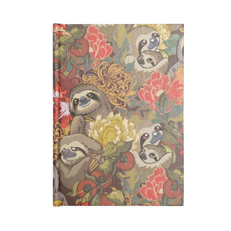 Because Sloths Autumn Accessories Notebook by huebucket's Artist Shop