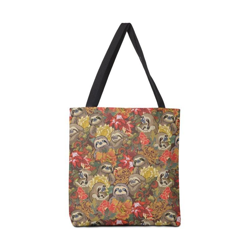 Because Sloths Autumn Accessories Bag by huebucket's Artist Shop