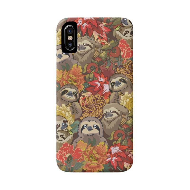 Because Sloths Autumn Accessories Phone Case by huebucket's Artist Shop