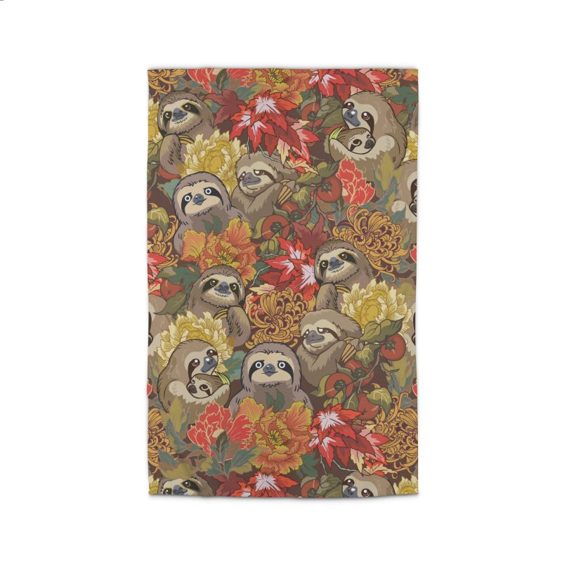 Because Sloths Autumn Home Rug by huebucket's Artist Shop