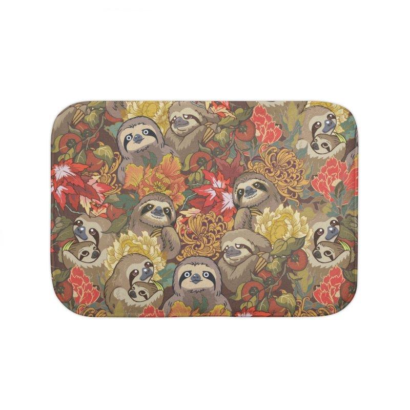 Because Sloths Autumn Home Bath Mat by huebucket's Artist Shop