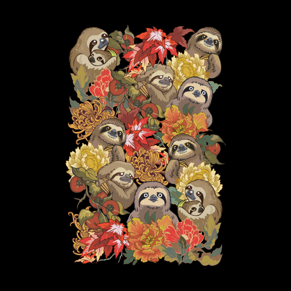 Design for Because Sloths Autumn