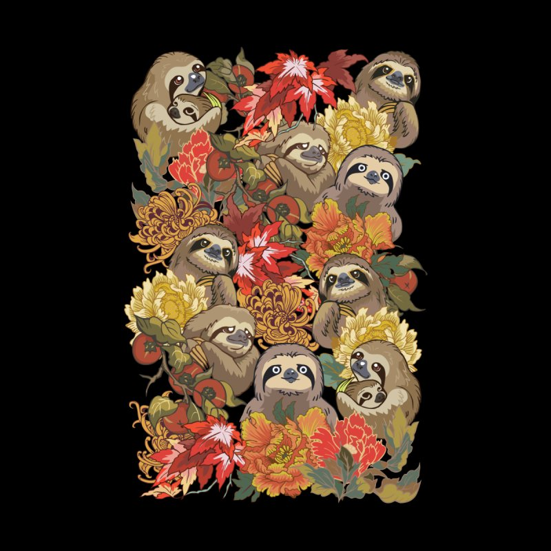 Because Sloths Autumn by huebucket's Artist Shop