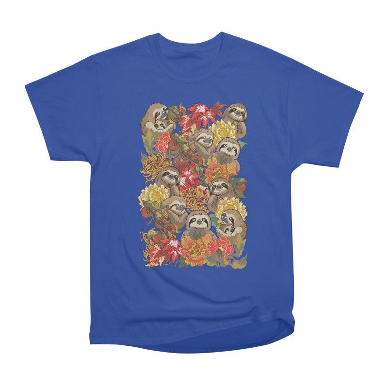 Because Sloths Autumn Men's Classic T-Shirt by huebucket's Artist Shop