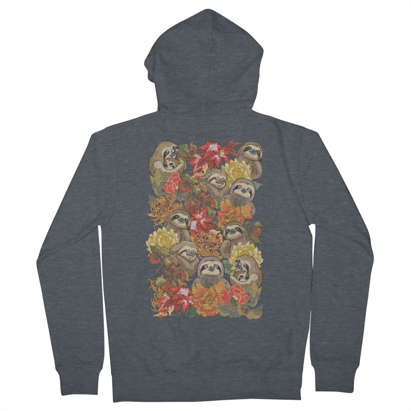 Because Sloths Autumn Women's Zip-Up Hoody by huebucket's Artist Shop