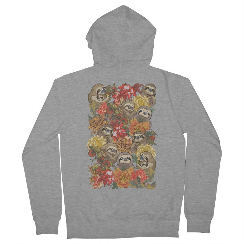 Because Sloths Autumn Men's Zip-Up Hoody by huebucket's Artist Shop