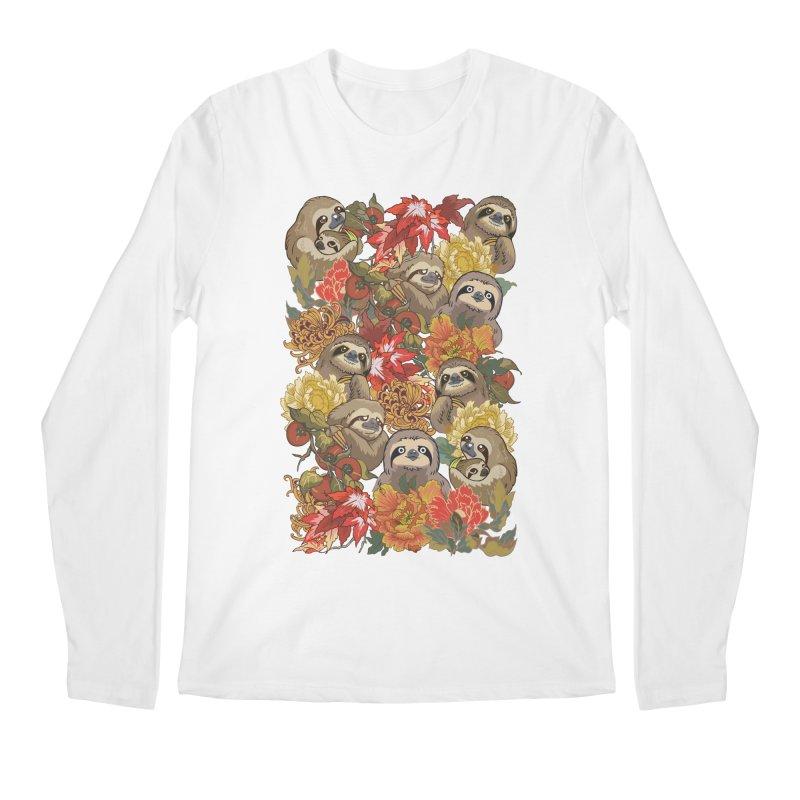Because Sloths Autumn Men's Longsleeve T-Shirt by huebucket's Artist Shop