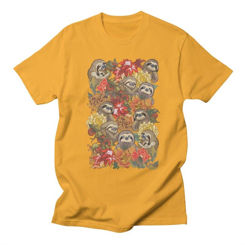Because Sloths Autumn Women's Unisex T-Shirt by huebucket's Artist Shop