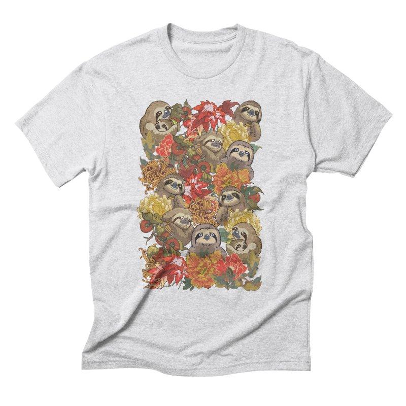 Because Sloths Autumn Men's Triblend T-Shirt by huebucket's Artist Shop
