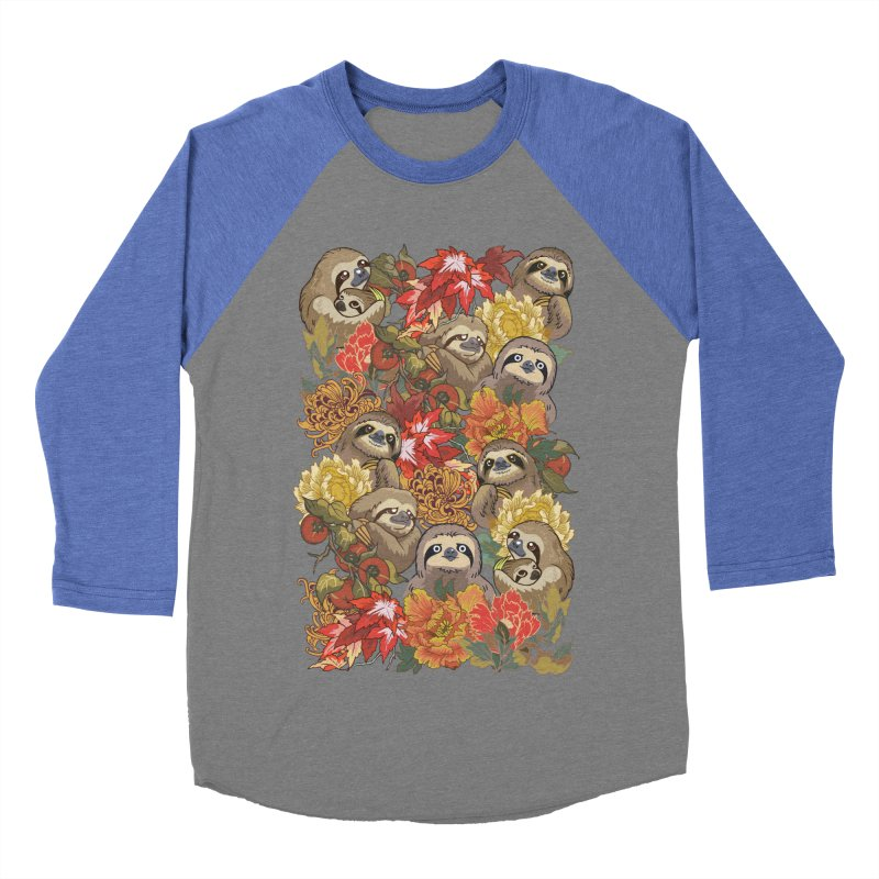 Because Sloths Autumn Women's Baseball Triblend T-Shirt by huebucket's Artist Shop