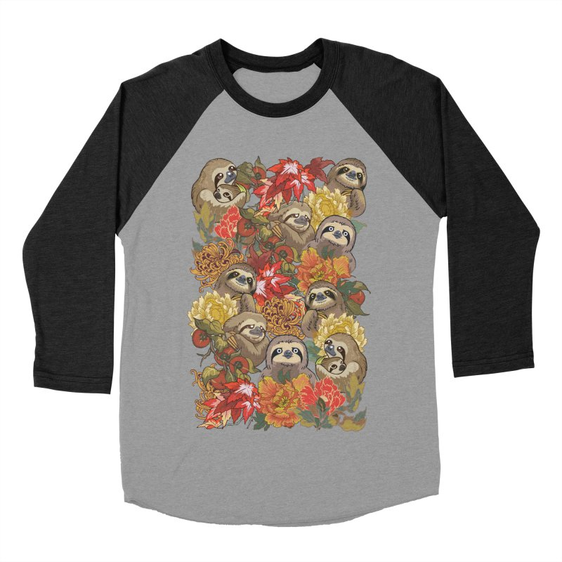 Because Sloths Autumn Men's Baseball Triblend T-Shirt by huebucket's Artist Shop