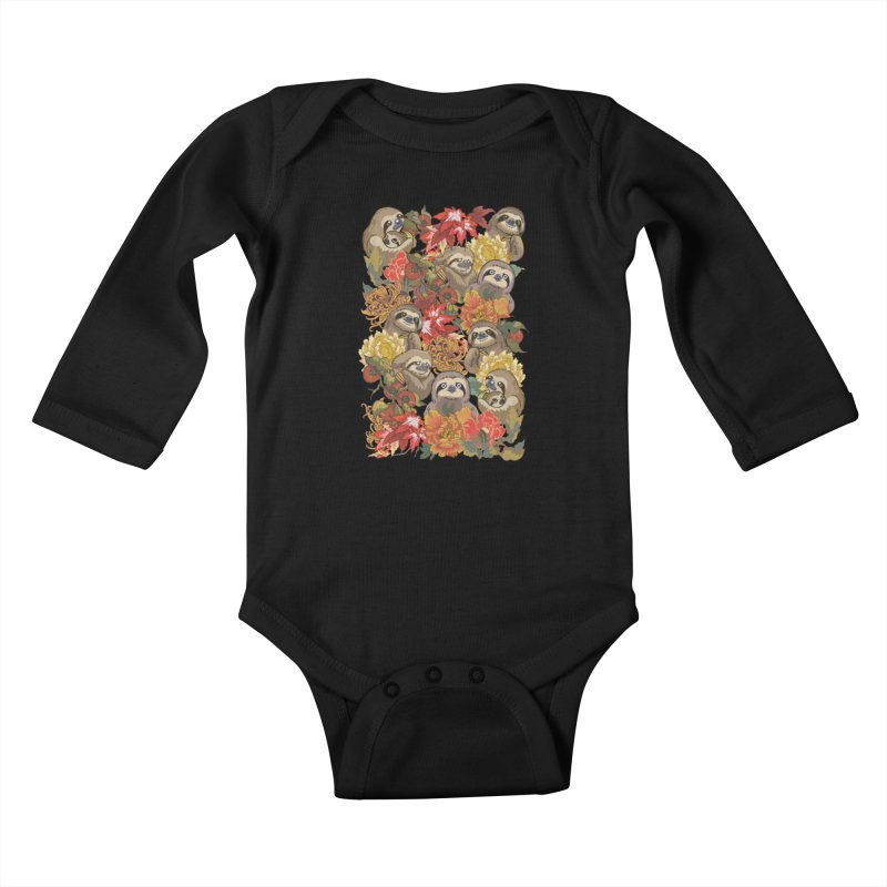 Because Sloths Autumn Kids Baby Longsleeve Bodysuit by huebucket's Artist Shop