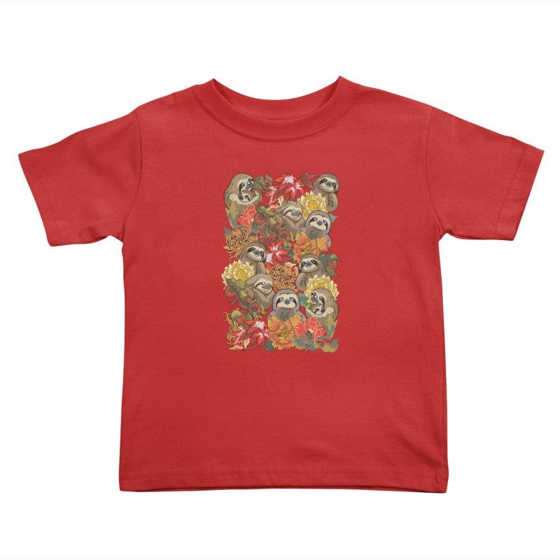 Because Sloths Autumn Kids Toddler T-Shirt by huebucket's Artist Shop