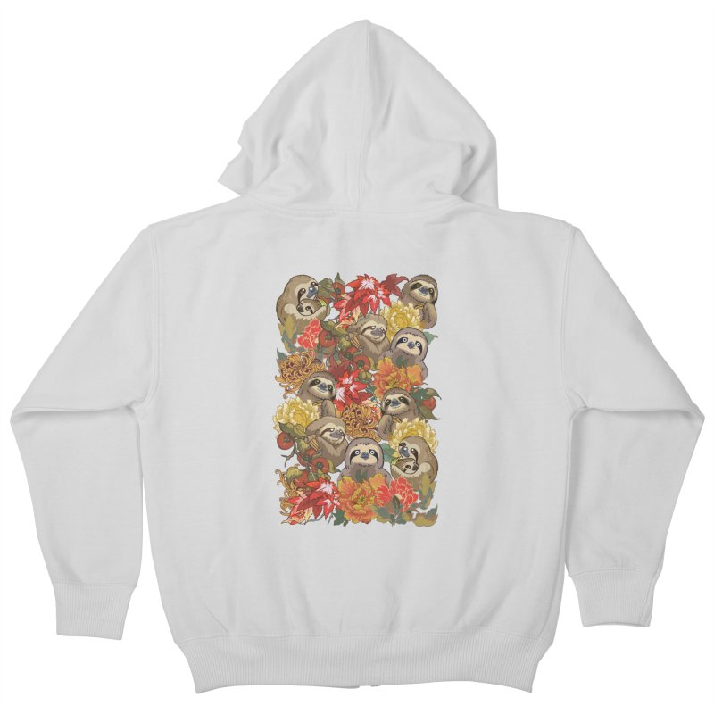 Because Sloths Autumn Kids Zip-Up Hoody by huebucket's Artist Shop
