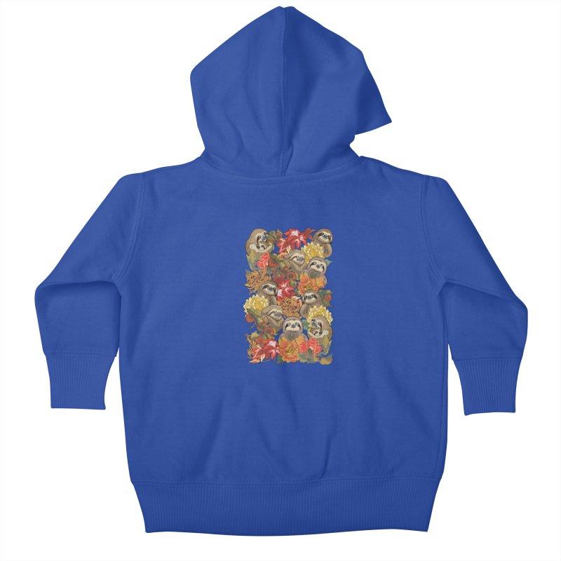 Because Sloths Autumn Kids Baby Zip-Up Hoody by huebucket's Artist Shop