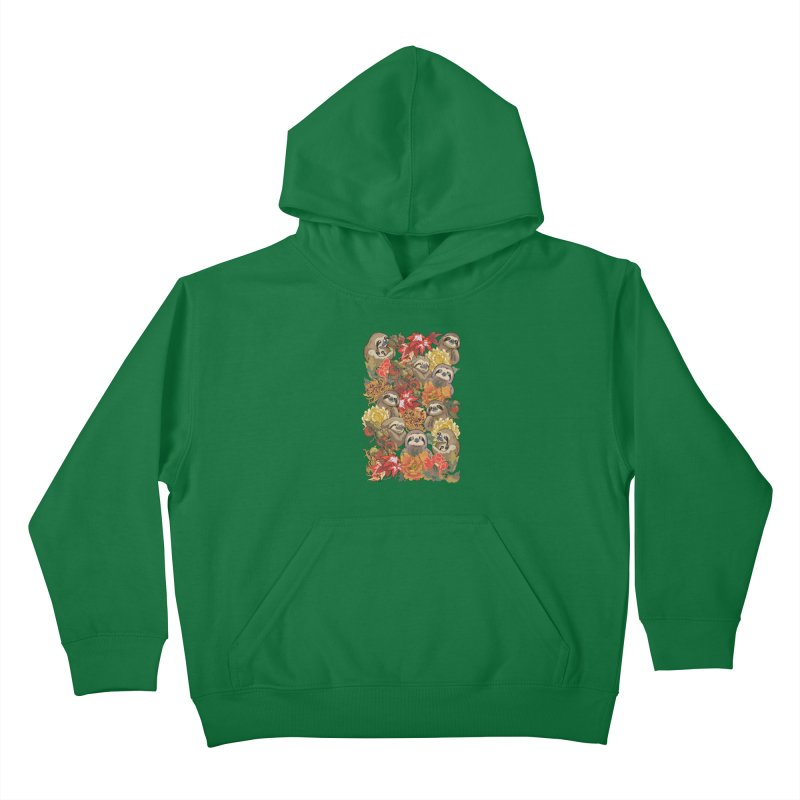 Because Sloths Autumn Kids Pullover Hoody by huebucket's Artist Shop